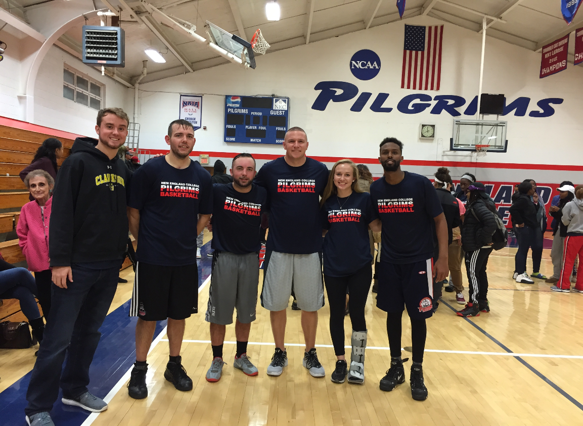 Pictured from left to right: my brother, Joseph Faragher, Andrew MacDonald, Tim Latorra, me, and Abdi Mohamed – 2016 Alumni Game