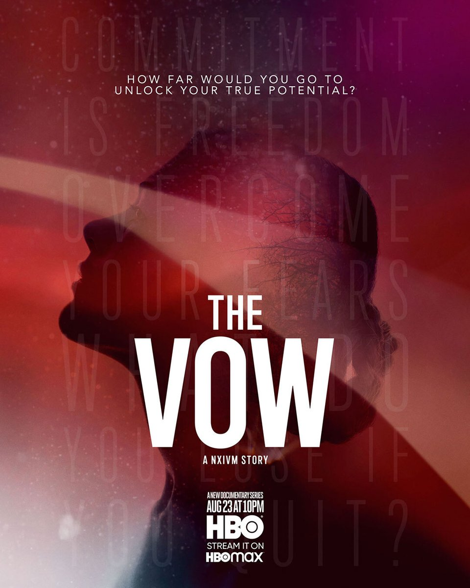 """HBO Documentaries on Twitter: """"How far would you go to unlock your true potential? #TheVowHBO… """""""